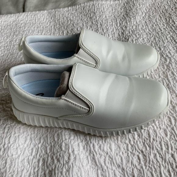 White Leather Nursing Shoe | Poshmark